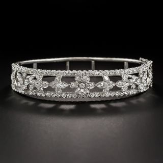 Estate Platinum and Diamond Bangle Bracelet