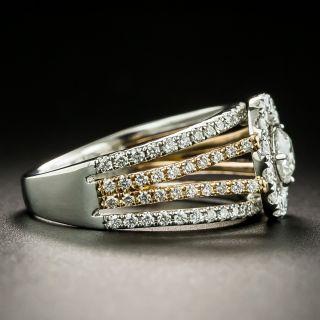 Estate Platinum and Rose Gold Diamond Ring