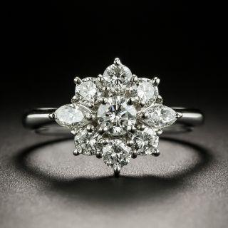 Estate Platinum Diamond Cluster Ring - 3