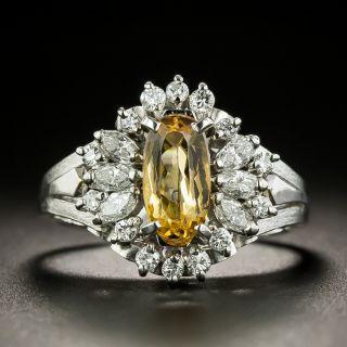 Estate Precious Topaz and Diamond Ring - 1