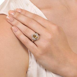 Estate Precious Topaz and Diamond Ring