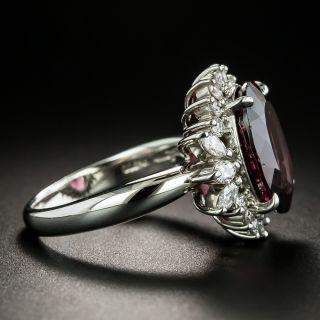 Estate Rhodolite Garnet and Diamond Cocktail Ring