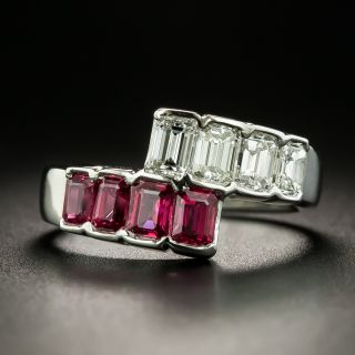 Estate Ruby and Diamond Bypass Band - 2