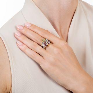 Estate Ruby and Diamond Cobra Ring