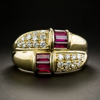 Estate Ruby and Diamond Ring - 2