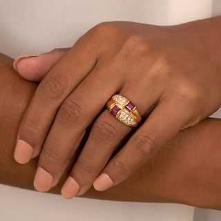 Estate Ruby and Diamond Ring