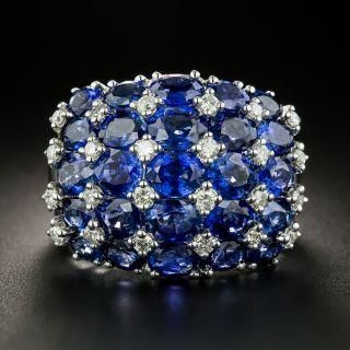 Estate Sapphire and Diamond Dome Ring - 2