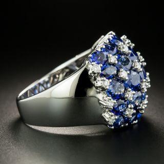 Estate Sapphire and Diamond Dome Ring
