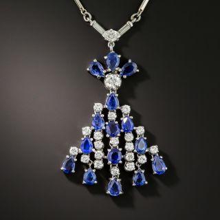 Estate Sapphire and Diamond Necklace - 2
