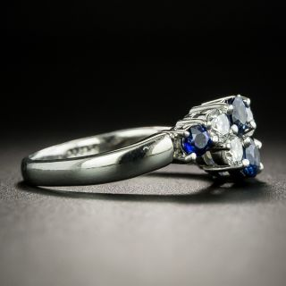 Estate Sapphire and Diamond Wave Ring