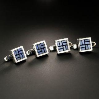 Estate Sapphire Cufflinks  - 3