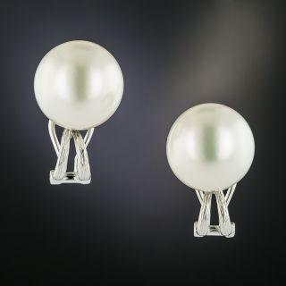 Estate South Sea Pearl Earrings - 2