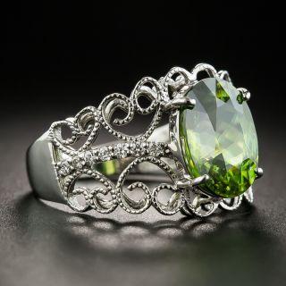 Estate Sphene 18K Gold Diamond Ring