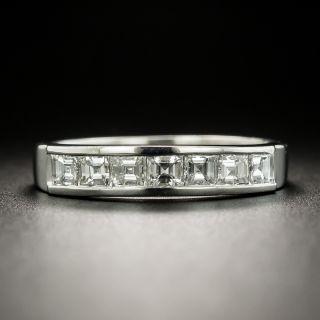 Estate Square-Cut Diamond Channel Wedding Band - 2