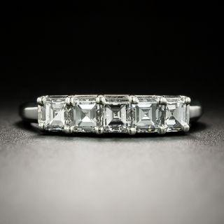 Estate Square Diamond Band Ring - 6