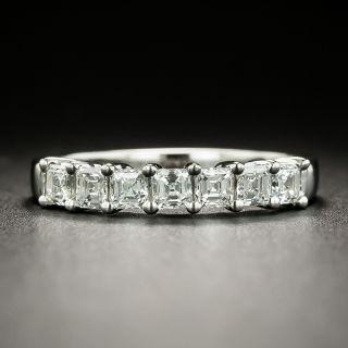 Estate Square Diamond Seven-Stone Wedding Band - 2