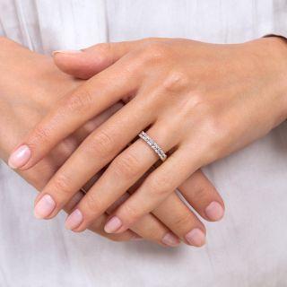 Estate Square Diamond Seven-Stone Wedding Band