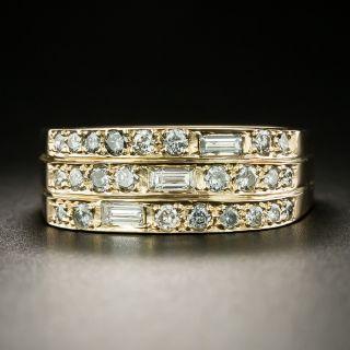 Estate Three-Row Diamond Band - 3