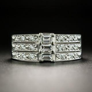 Estate Three-Row Diamond Band Ring - 2