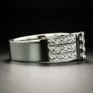 Estate Three-Row Diamond Band Ring
