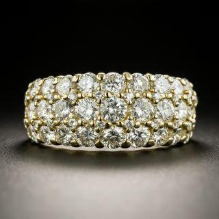 Estate Three-Row Diamond Dome Ring - 2