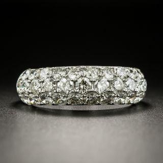 Estate Three-Row Pavé Diamond Band Ring - 2