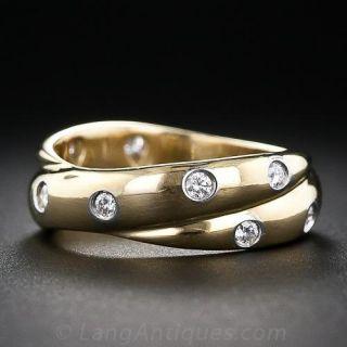 "Estate Tiffany & Co. ""Etoile"" Double Ring - Size 7"