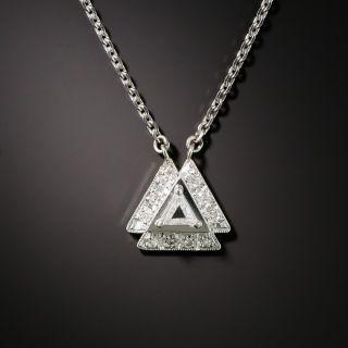 Estate Triangle-Cut Diamond Pendant - 2