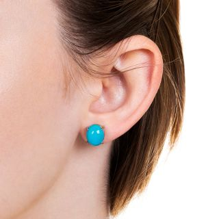 Estate Turquoise Stud Earrings