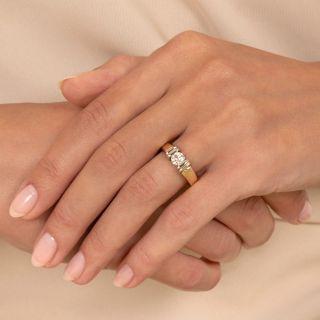 Estate Two-Tone .45 Carat Diamond Engagement Ring