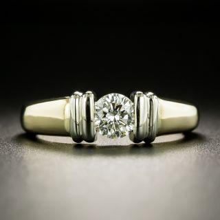 Estate Two-Tone Diamond Engagement Ring - 2