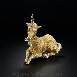 Estate Unicorn Pin