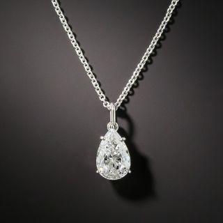 Estate1.00 Ct. Pear Shape Diamond Drop - GIA E SI2 - 2