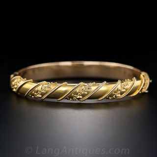 Etruscan Style Bracelet with Foliate Accents