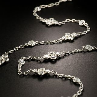 European-Cut Diamonds by the Yard Necklace - 4