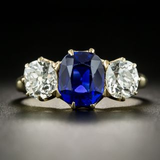 Exceptional 2.62 Carat Kashmir Sapphire and Diamond Ring - AGL - 2