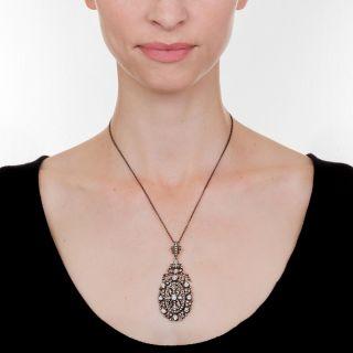 Exquisite Victorian Diamond Pendant Necklace
