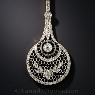 Extra-Long Edwardian Diamond Lavaliere