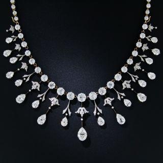 Extraordinary Edwardian Diamond Fringe Necklace