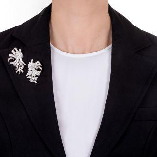 Fabulous 50s Diamond Clip Brooch