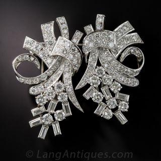 Fabulous 50s Diamond Clip Brooch - 1