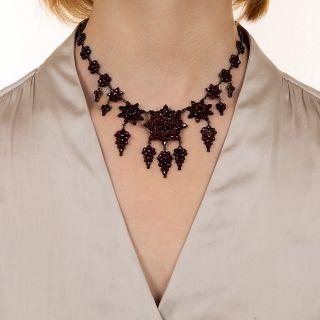 Fancy Bohemian Garnet Necklace
