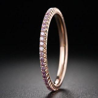 Fancy Pink Diamond Eternity Band - 1