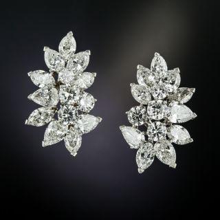Fancy Shaped Diamond Cluster Earrings - 3