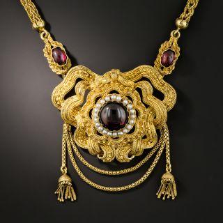 Fancy Victorian Garnet Necklace - 3