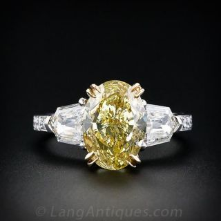 Fancy Yellow 4.02 Carat Diamond Ring