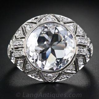 Fine 3.73 Carat Edwardian Diamond Ring - GIA E-VS2 - 1