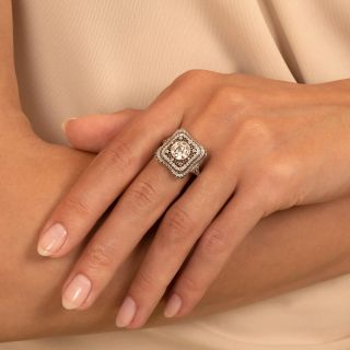 Fine Edwardian Style 1.27 Carat Diamond Ring - GIA J VS2