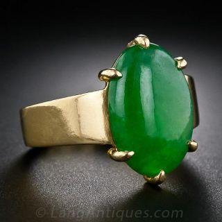 Fine Jadeite Ring in 22 Karat Gold