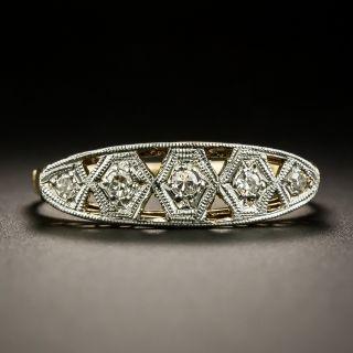 Five Diamond Art Deco Band Ring - 1